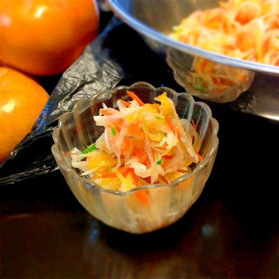 おせちにも活躍・柿なます。食卓に華を添える人気の8レシピ☆