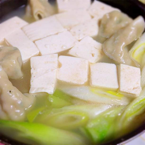 湯豆腐 水餃子