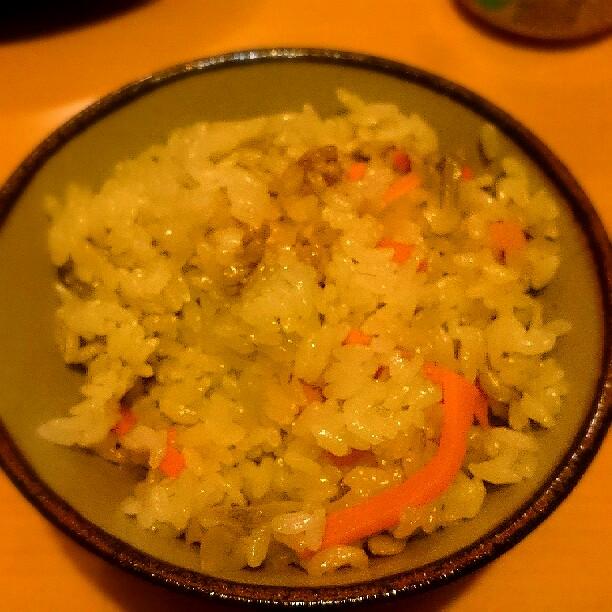 煮物の残り汁の炊き込みご飯の写真
