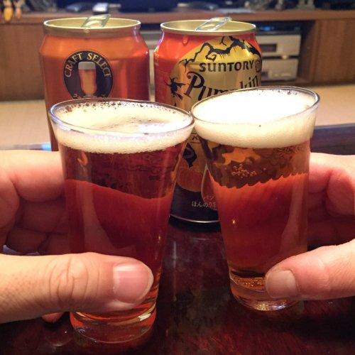 サントリーよりクラフトセレクト第3弾のザパンプキンとパンプキンスペシャルのビールテイスト。最近発売された限定醸造だそうです。どちらもパンプキンのテイストしっかり。