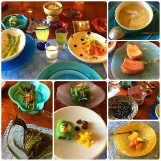 沖縄野菜をふんだんに使った50品目の薬膳朝食。 今回のお楽しみのひとつ。 大変に満足です。