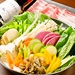 【20品目野菜と四元豚のバーニャカウダー鍋¥1,780】 しちんりんバル ひとつなぎ輪 神保町店